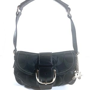 Coach Soho Signature Black Jacquard Shoulder Bag